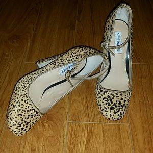 NWT Steve Madden Tessssal Leopard Heels